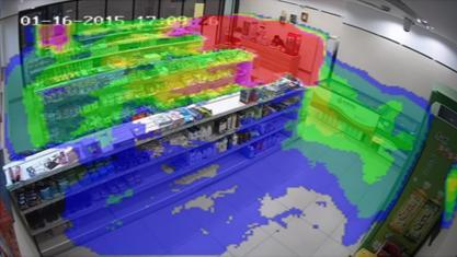 Demonstration of CCTV heat mapping
