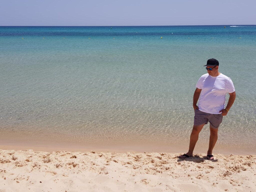 Man on holiday